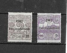 1917   REPUBBLICA DI SAN MARINO    PRO COMBATTENTI   GOMMA INTEGRA