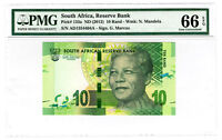 Nelson Mandela 2012 South Africa Reserve Bank R10 Banknote PMG Graded EPQ 66
