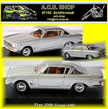 Fiat 2300 Coupe 1961-64 silber silver metallic 1:43