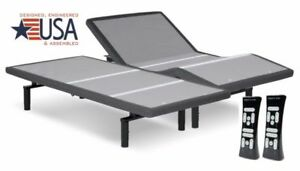 SPLIT KING LEGGETT & PLATT SIMPLICITY 3.0 ADJUSTABLE BED W/ 10IN COOL GEL MATTS