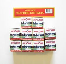 10 NEW EXPLODING GOLF BALLS EXPLODES IN A CLOUD OF SMOKE GAG GIFT PRANK