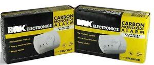 Lot of  2 BRK Electronics CO3000B Carbon Monoxide Alarm New