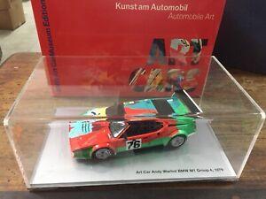 Minichamps 1:18 80430150922 BMW M1 Art Car Andy Warhol 24H Le Mans 1979 Museun