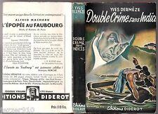 BRANTONNE ° YVES DERMEZE ° DOUBLE CRIME SANS INDICES ° 1946 DIDEROT + JAQUETTE