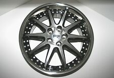 NICHE SPA M879 20x8.5 Black Machined-Face Stainless Steel Lip Wheel Rim (Single)