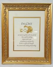 "Hand Lettered Calligraphy Framed Art - 14"" x 17"" - ""Our Lives"" Wedding Themed"