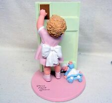 """Bessie Pease Gutmann Figurine by Danbury Mint """"May We Come In"""" 1992"""
