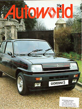Renault Autoworld Magazine No 71 Early 1979 UK Market Brochure 5 Gordini R14 R18
