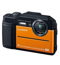 Panasonic Compact Digital Camera LUMIX FT7 4K Orange DC-FT7-K EMS w/Tracking NEW