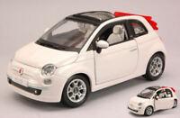 Coche Auto Escala 1:24 Burago Fiat Nueva 500 Cabriolet 1:24 miniaturas