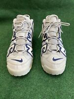 Air More Uptempo NYC QS Wolf Grey White Midnight Navy Sz 13 AJ3137-001 used