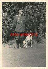 Photo, wehrmacht, soldat avec chien