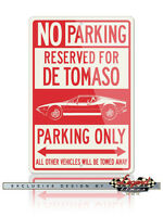 De Tomaso Pantera Reserved Parking Only 12x18 Aluminum Sign  Italian Classic Car