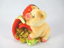 Glücksschwein Sparschwein Keramik Spardose ca 6x6,5x8 cm Gelddose Sparbüchse