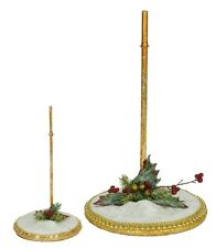 Mark Roberts Snow Base Stand Large  Use for Elves or Fairies item #51-82144