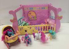 My Little Pony Newborn  Cuties Baby Nursery Play Pen Baby Carriage Lot
