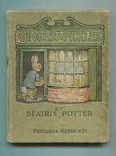 Ginger & Pickles by Beatrix Potter First American Edition 1909 Childrens