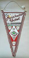 Rar Wimpel Manchester United European Cup Old Pennant Football Fussball Kingdom