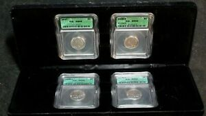 4 COIN BUFFALO NICKEL SET ICG MS66 GEM 5C Coins IN DISPLAY BOX PRICED TO SELL!
