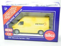 Schnelle Post//EM -GELB OVP -Auto  Transporter SIKU-MERCEDES SPRINTER 1:55