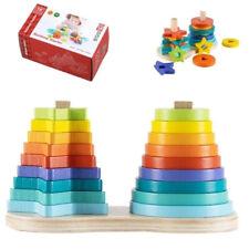Stapelturm aus Holz für Baby & Kleinkind   Holzspielzeug Montessori   Spielzeug