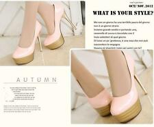 Stiletto Zapatos de Salón Altos Elegantes Mujer Novia Plataforma 13.5CM Rosa
