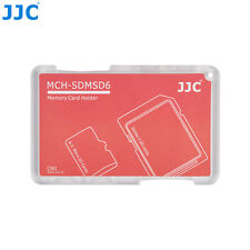 """JJC 0.2"""" UltraSlim Credit Card size Memory Card Holder for 2 SD+4 Micro SD Cards"""