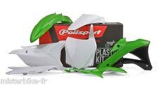 Kit plastiques Coque Polisport Kawasaki KX85 KX100 2014-2015  Couleur:  Origine