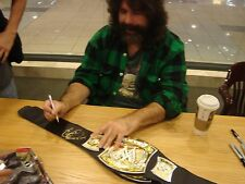 "MICK FOLEY Signed Auto WWE  Champion Belt ""Have a Nice Day"" Proof Coa CM PUNK"