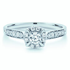 Special offer... Stunning Round Diamond Halo Set Engagement Ring in White Gold