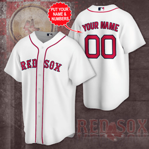 NEW Boston Red Sox Mens Jersey Majestic MLB Home Multicolor Personalized Jersey