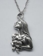 Chain Necklace Pewter ZODIAC #1535 VIRGO (Aug 23 - Sept 22) 16mm x 29mm