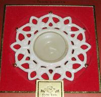 Lenox Snow Lights Shine Snowflake Votive Tealight Candle Gold Trim Porcelain New