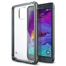New Spigen Ultra Hybrid Bumper Case For Galaxy Note 4 Gunmetal (SGP11115)