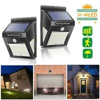 4pcs 30LED Solar Light PIR Motion Sensor Garden Security Outdoor Yard Wall Lamp