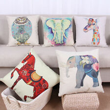 Animal Cotton Linen Sofa Car Waist Throw Cushion Cover Pillow Case Home Decor