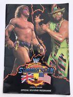 **ULTIMATE WARRIOR / RANDY SAVAGE WWF WWE SUMMERSLAM 1992 PROGRAMME WEMBLEY**
