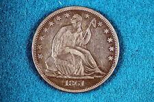 ESTATE FIND 1861 Seated Liberty Half Dollar!! #G2143