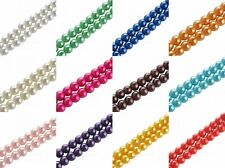 Lots Round Glass Pearl Round Spacer Loose Beads For DIY Bead 4/6/8/10/12/14/16mm