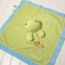 Just One Year Frog Lovey Security Mini Blanket I Love Hugs Plush Toy Carters