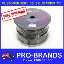 100m 2-Core Shielded Pro Microphone Cable Wire Cord Mic Lead 100 Metre AV Roll