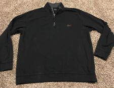 greg norman xxl Golf Mens 1/2 Zip Black Cottom Long Sleeve Pullover A40