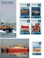 Rescue Boats Ships Special Sea Water Transport Solomon Islands MNH stamp set