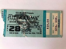 VINTAGE MAY 28th 1977~FLEETWOOD MAC~RUMOURS~CONCERT TICKET~MIAMI, FL.