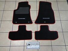 15-17 Dodge Challenger New Premium Carpeted Floor Mats Black Ruby Red Mopar Oem