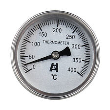 Stainless Steel Back Brat Pizza Grill Oven Bimetal Dial Thermometer 400°C Degree