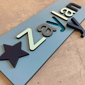 Personalised wooden name jigsaw - Painted or Unpainted - Learning Toys Education