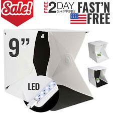 "Photo Light Box Studio Photography Shooting Kit Softbox Tent Portable Mini 9"""