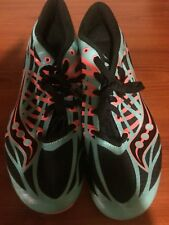 Saucony Velocity Spike Track Spikes Cleats Teal/Orange/Black Women's 7.5, EUC!