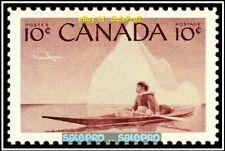 CANADA 1955 CANADIAN ESKIMO HUNTER FV FACE 10 CENT MNH BROWN VINTAGE STAMP